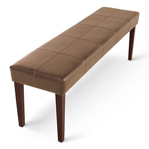SAM-Esszimmer-Sitzbank-Enzio-XIII-in-cappuccino-mit-kolonial-farbigen-Beinen-aus-Pinien-Holz-Bank-in-145-cm-SAMOLUX-Bezug-fr-angenehmen-Sitzkomfort-frei-aufstellbare-Essbank-ohne-Rckenlehne