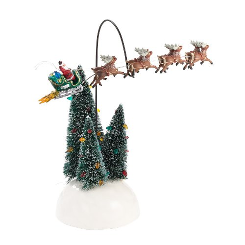 Department 56 Original Snow Village Animated Flaming Sleigh Accessory, 6.3-Inch