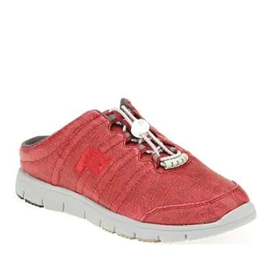 Propet Travelwalker Canvas Slide Shoes, Ruby, 10 Ww/2E