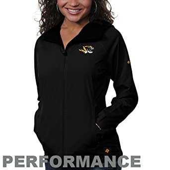 NCAA Columbia Missouri Tigers Ladies Surefire Softshell Performance Jacket - Black by Columbia