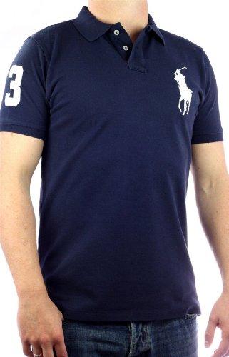 Polo by Ralph Lauren Big Pony Mens Polo-Shirt navy blue, slim fit, men tee