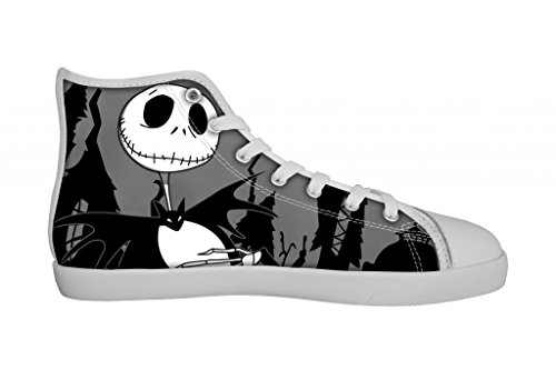 Gckg The Nightmare Before Christmas Jack Skellington Women'S Nonslip Hi Top Canvas Shoes Lace-Up Fashion Sneakers 10M Us