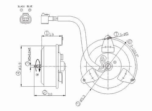 Radiator Fan Motor For 2002 Mitsubishi Lancer 2.0L - 630800