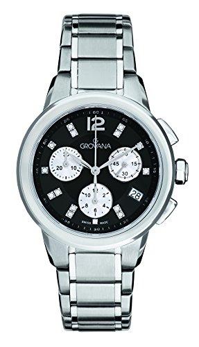 Grovana Unisex reloj infantil de cuarzo con esfera cronógrafo y plateado correa de acero inoxidable de 5094,9237