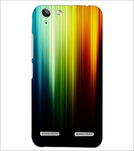 PrintDhaba Rainbow Colours D-2276 Back Case Cover for LENOVO LEMON 3 (Multi-Coloured)