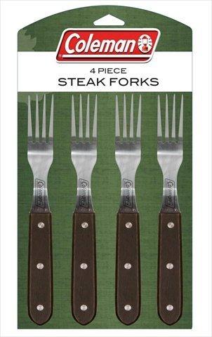 """Coleman C04F240 9"""" Steak Gabeln mit Darkwood Griffe – Piece of 4 günstig online kaufen"""