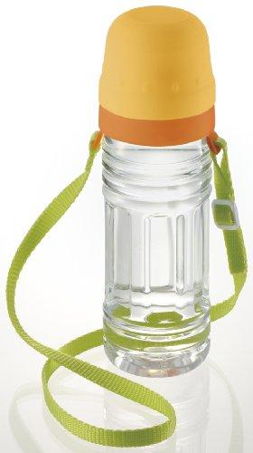 リッチェル おでかけランチくん お出かけ先での水分補給に ペットボトル用2段コップ ベルト付 41890-1