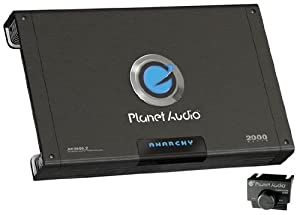 Planet Audio AC2000.2 MOSFET Two-Channel Power Amplifier, 1000 Watts x 2 Max Power by Planet Audio
