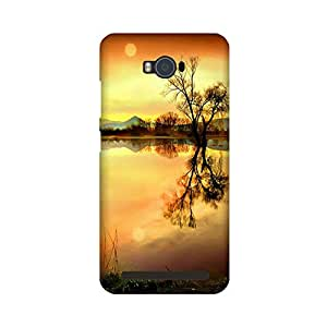 Aaranis designed Asus Zenfone Max Mobile Backcover with perfect Matte Finishing river nature(Multicolor)