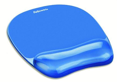 Fellowes 91141 Gel Crystal Mousepad/Wrist Rest (Blue)
