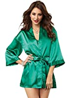 Dreamgirl Women's Charmeuse Chemise and Robe Set