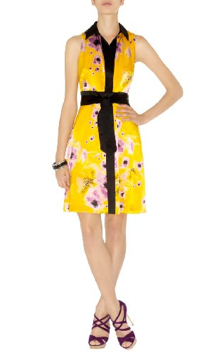 Yellow Floral Print Dress