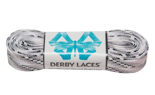 Smoke 96 Inch Waxed Skate Lace - Derby Laces for Roller Derby, Hockey and Ice Skates, and Boots - 1