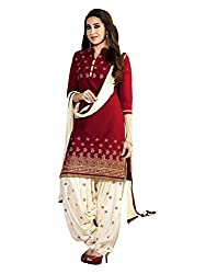 Look N Buy women's Cotton Printed Unstitched Dress Material