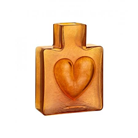 KOSTA BODA Because Vase - orange heart
