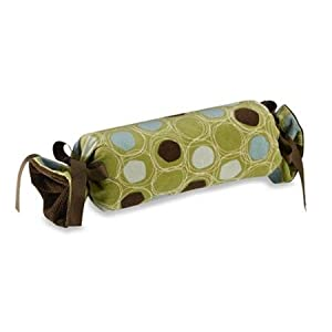 Glenna Jean Spa Pillow - Roll (Green Circles)