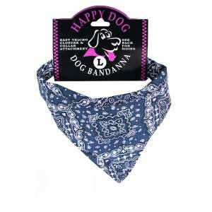 Blue Paisley Dog Bandanas (Medium)