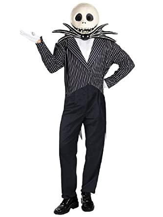 Cartoon Character Jack Skellington Deluxe Costume The Nightmare Before Christmas Sizes: One Size