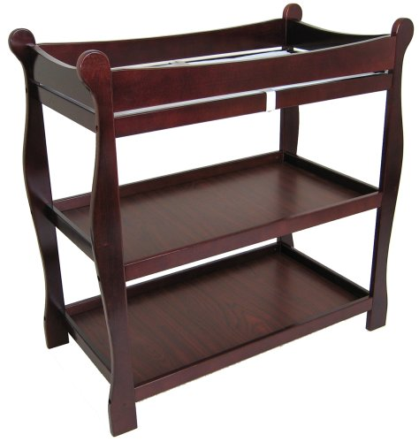 badger basket cherry sleigh style baby changing table discount price where to buy cherry