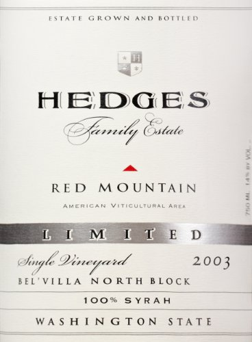 2003 Hedges Family Estate Single Vineyard Limited Syrah 750 Ml