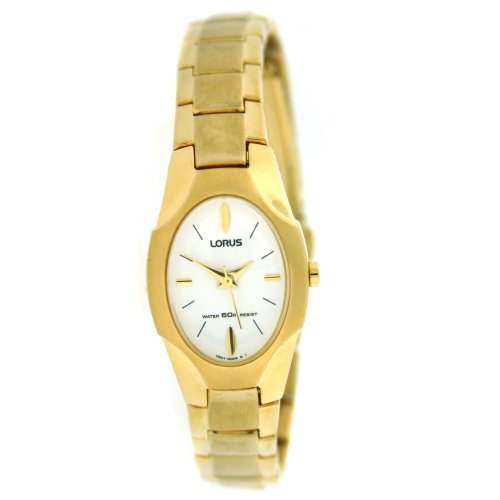 Lorus Oval Gold Tone Ladies Watch White Dial RRS28LX9