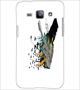 PrintDhaba Guitar D-5534 Back Case Cover for SAMSUNG GALAXY J1 (Multi-Coloured)