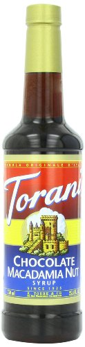 Torani Syrup, Chocolate Macadamia Nut, 25.4 Ounce (Pack Of 4)
