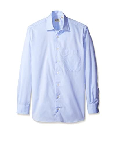 Gitman Blue Men's Solid Spread Collar Sport Shirt