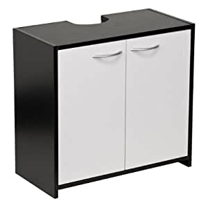 ebony double door bathroom undersink cabinet black