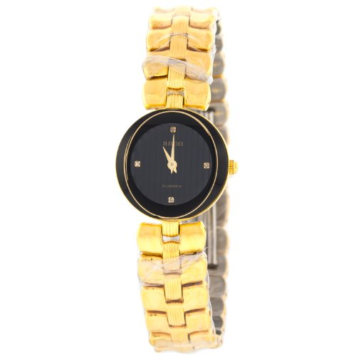 Rado Florence 322.3762.2 Black Dial Stainless Steel Ladies Watch