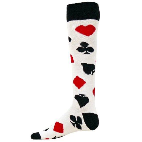 Red Lion Cards Knee High Athletic Socks ( White - Medium )
