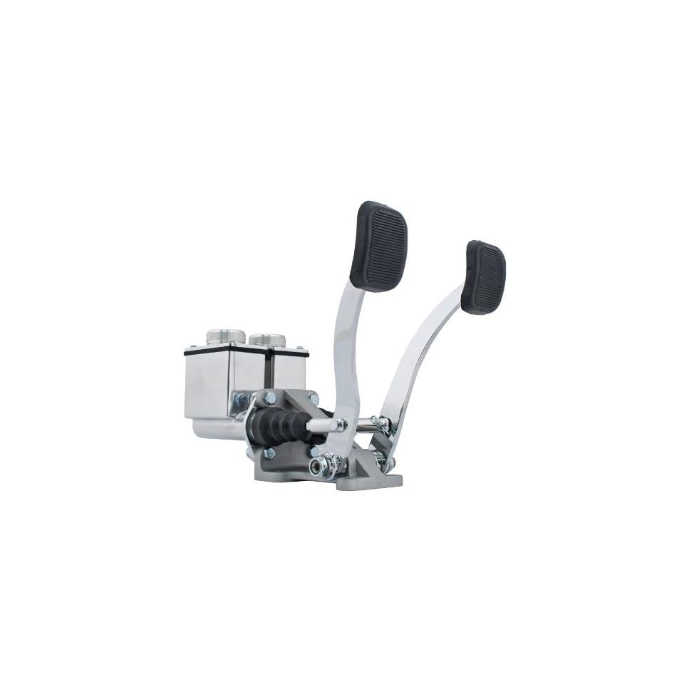 EMPI 16 2530 0 RACE TRIM Dual Pedal Assembly, 3/4 Clutch   7/8 Brake, Polished