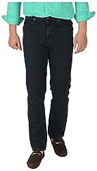KILLER Men's Regular Fit Jeans (574732 C/F DRKGRN_34, Black, 34)