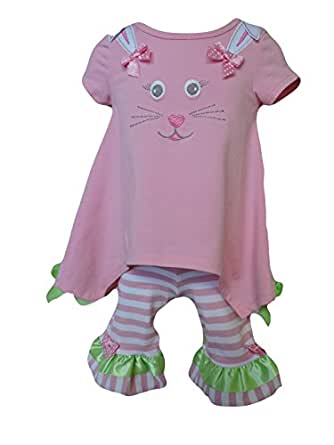 Bonnie Jean Pink Bunny Outfit Size 2T 3T 4T 4 5 6 6X