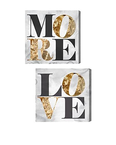 Oliver Gal Love You More Diptych Canvas Art
