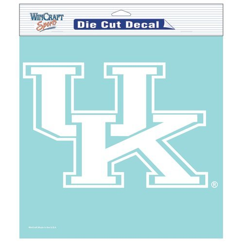 Kentucky Wildcats NCAA Vinyl Die Cut Window Decal Auto Car Logo White 8x8 Sticker College Licensed Team Logo at Amazon.com