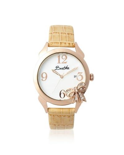 Bertha Women's BR2106 Bow Cream/White Stainless Steel Watch