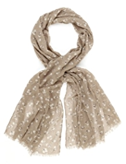 M&S Collection Lightweight Squirrel Print Scarf