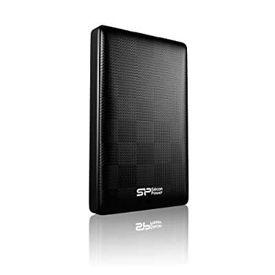 Silicon Power Diamond D03 Pocket Size 1TB USB 3.0 External Hard Drive, Black (SP010TBPHDD03S3K)