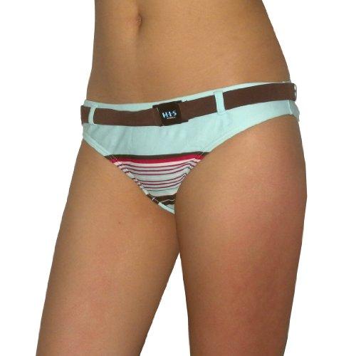 H.I.S Womens Soft & Smooth Surf Swim Bikini Trunks / Bottom - Quick Dry - Multicolor