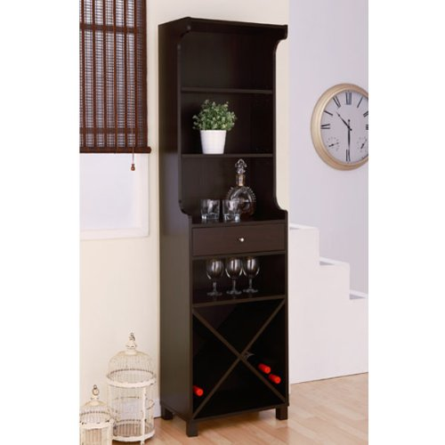 Alton Modern Cappuccino Finish Wine Bar front-385134