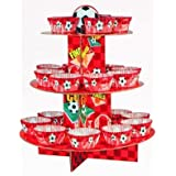 Red Football Cupcake Kit Stand (matching cases & pixs included)