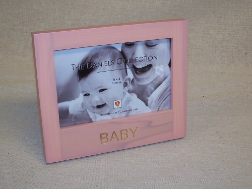 "The Daniels Collection 6"" by 4"" Engraved Wood Picture Frame 'BABY' (Girl)"