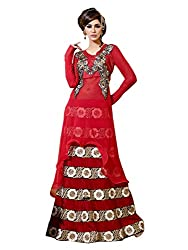 Admyrin Womens Georgette Anarkali Dress Material (Ay-Sk-Bm-1038 -Red -Free Size)