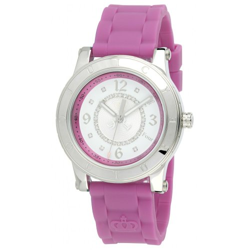 Juicy Couture Women's 1900830 HRH Berry Pink Jelly Strap Watch