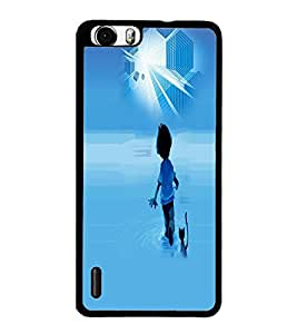 PrintDhaba Cartoon D-4009 Back Case Cover for HUAWEI HONOR 6 PLUS (Multi-Coloured)
