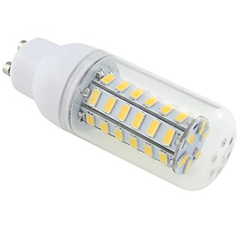 Generic Gu10 7W 48X5730 Smd 550~600Lm 3000~3500K Warm White Light Led Clear Cover Corn Bulb Ac 220V~240V