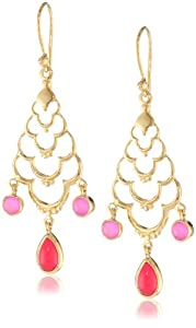 Eddera Jewelry Mandir Pink Earrings