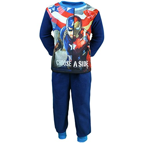 Pigiama Captain America Ragazzo Choose a Side, Bleu Marine, 6 ans