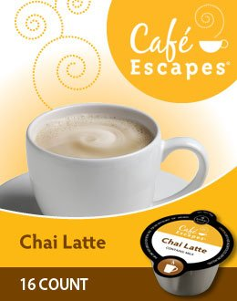 128 Count, Cafe Escapes Chai Latte Vue Packs For Keurig Vue Brewers (8 - 16 Ct Vue Packs)